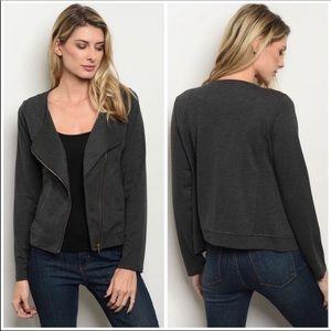 STYLISH Charcoal Zip Jacket